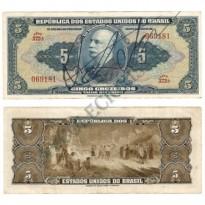 C017 - 5 Cruzeiros - Autografada - 1943 - MS