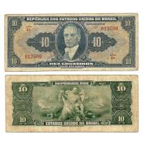 C018 - 10 Cruzeiros - Autografada - 1943 - MBC