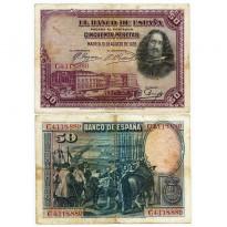 Cédula - Espanha - Km075 - 50 Pesetas -1928