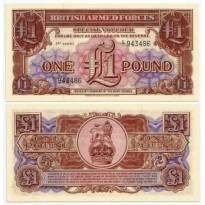 Cédula - Inglaterra - KmM29 -  1 Pound -  VOUCHER - 1956 - FE