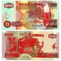 Cédula - Zambia - Km037b - 50 Kwacha - 1992 - FE