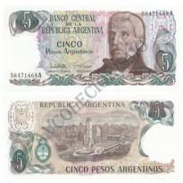 Cédula - Argentina - Km312 - 5 Pesos - 1983-84 - FE