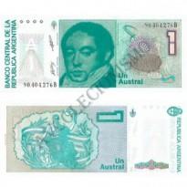Cédula - Argentina - Km323b - 1 Austral - 1985-89 - FE