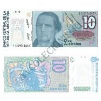 Cédula - Argentina - Km325b  - 10 Austrais - 1985-89 - FE