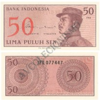 Cédula - Indonésia - Km094 - 50 Sen  - 1964 - FE