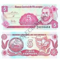 Cédula - Nicarágua - Km168 - 5 Centavos - 1991 - FE