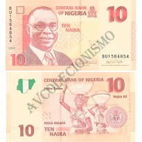 Cédula - Nigéria - Km033 - 10 Naira - 2006 - FE