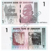 Cédula - Zimbabwe - Km065 - 1 Dollar - 2007 - FE