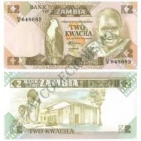 Cédula - Zambia - Km024c - 2 Kwacha - 1988 - FE