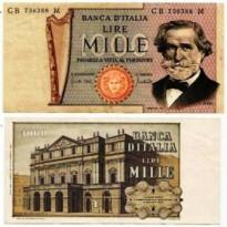 Cédula - Italia - Km101a - 1000 Lire -1971