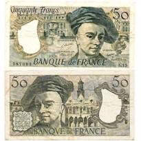Cédula - França -  50 Francos - 1979 - Km152a - MBC+