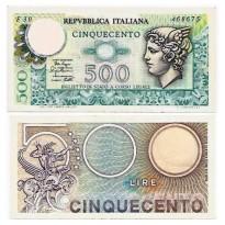 Cédula - Italia - Km94 - 500 Lire -1979 - SOB