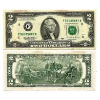 Cédula - Estados Unidos - 2 Dollares - 1995 - Kl2222A - Boston - FE