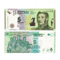 Cédula - Argentina - Km359 - 5 Pesos - 2015 - FE
