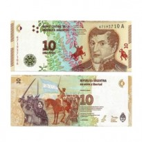 Cédula - Argentina - Km360 - 10 Pesos - 2016 - FE