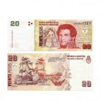 Cédula - Argentina - Km355b - 20 Pesos - 2018 - FE