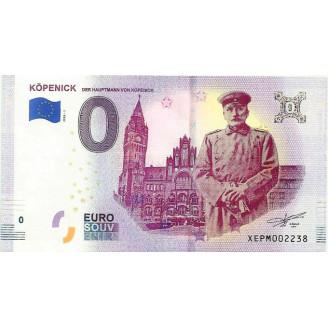 Cédula Fantasia - 0 Euros - Impressas pelo estado alemão de Kopenick