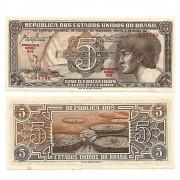 C111 - 5 Cruzeiros - Índio - Serie 014 - 1961 - FE