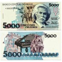 C219a - 5000 Cruzeiros - 1990 - FE - S0002 - Reposição