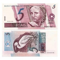 C278 - Cédula Brasil - 5 Reais - 2009 - FE