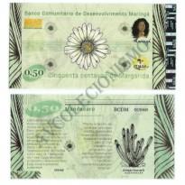 MSB011 - Moeda Social - Margarida - C$ 0,50 - B. Maringá - PB - FE