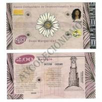 MSB013 - Moeda Social - Margarida - C$ 2,00 - B. Maringá - PB - FE