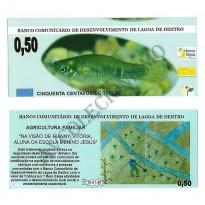 MSB016 - Moeda Social - Tintim - C$ 0,50 - 1º Lançamento - B. Lagoa de Dentro - PB - FE