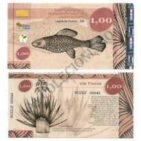 MSB022 - Moeda Social - Tintim - C$ 1,00 - B. Lagoa de Dentro - PB - FE