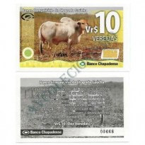 MSB031 - Moeda Social - Veredas - Vr$ 10,00 - B. Chapadense - Chapada Gaúcha - MG - FE