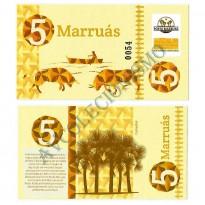MSB041 - Moeda Social - Marruás - M$ 5,00 - Banco Comunitário - Marruás - Ceará - FE