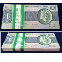 Centena de Cédulas Sequenciais de 1 Cruzeiro - C132 - Brasil - 1980 - FE