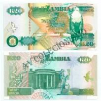 Cédula - Zambia - Km036a - 20 Kwacha - 1992 - FE