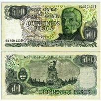 Cédula - Argentina - Km303c - 500 Pesos - 1982 - FE