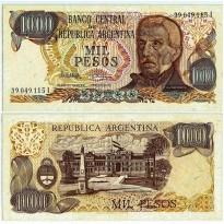 Cédula - Argentina - Km304d - 1000 Pesos - 1976 a 1983 - FE