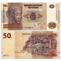 Cédula - Congo - Km097 - 50Francos - 2007 - FE