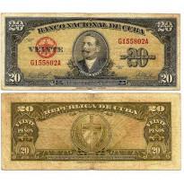 Cédula - Cuba - Km080b -  20 Pesos  - 1958