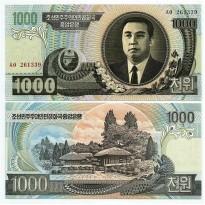 Cédula - Koreia do Norte - Km045b - 1000 Won - 2006 - FE