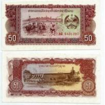 Cédula - Laos - Km029 - 50 Kip - 1979 - FE