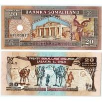Cédula - Somalilandia - Km003 - 20  Shillings - 1996 - FE