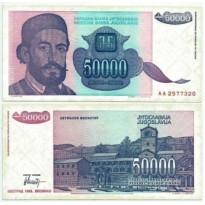 Cédula - Yugoslavia - Km130 - 50000 Dinara - 1993 - FE