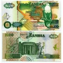 Cédula - Zambia - Km036b - 20 Kwacha - 1992 - FE
