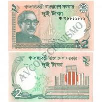 Cédula - Bangladesh - Km052b  - 2 Taka - 2011 - FE