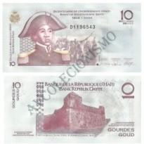 Cédula - Haiti - Km272 - 10 couros -  2004 - FE