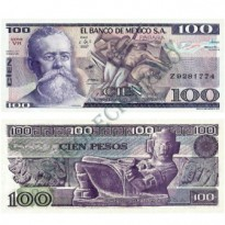 Cédula - México - Km074C - 100 Pesos - 1982 - FE