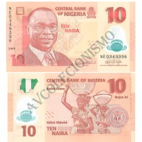 Cédula - Nigéria - Km039 - 10 Naira - 2009 -  Polímero - FE
