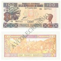 Cédula - Guiné - KmXXX - 100 Francs Guinéens  - FE