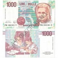 Cédula - Itália - Km114c - 1000 Lire - 1990 - FE