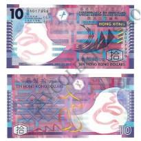 Cédula - Hong Kong - KmXXX - 10 dólares -  Polímero - 2012 - FE