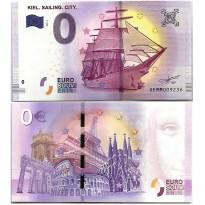 Cédula - Alemanha - Souvenir - 0 - Zero Euro - 2017 - Kiel Siling City - FE