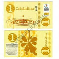 MSB007 - Moeda Social - Cristalina - C$ 1,00 - B. Pureza - Bebida Velha - RN - FE